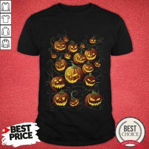Pumpkin Patch At Midnight Halloween Day Shirt