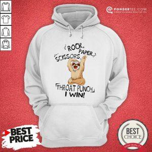 Sloth Rock Scissors Paper Throat Punch I Win Hoodie - Desisn By Pondertee.com