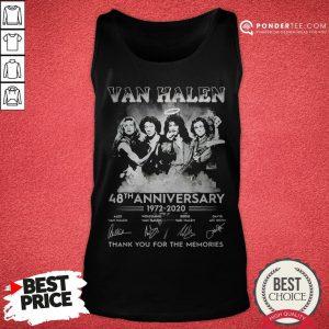 Van Halen 48th Anniversary 1972-2020 Thank You For The Memories Tank Top - Desisn By Pondertee.com
