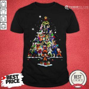 Funny Dragon Ball Z Character Christmas Tree Shirt - Desisn By Pondertee.com