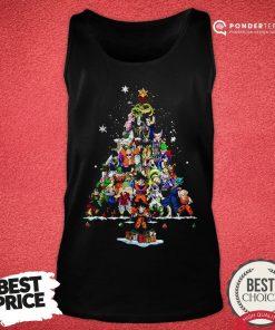 Funny Dragon Ball Z Character Christmas Tree Tank Top - Desisn By Pondertee.com