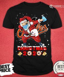 Good Baltimore Orioles Funny Santa Claus Dabbing Christmas 2020 Shirt - Desisn By Pondertee.com
