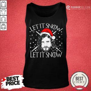 Good Jon Snow Let It Snow Let It Snow Christmas Tank Top - Desisn By Pondertee.com