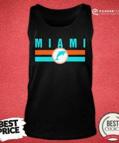 MIA Miami Local Standard MIA Retro Dolphin Miami FL Tank Top - Desisn By Pondertee.com