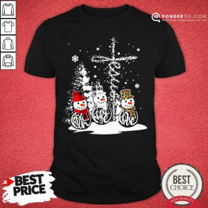 Good Snowman Jesus Faith Hope Love Christmas Shirt - Desisn By Pondertee.com