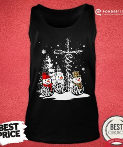 Good Snowman Jesus Faith Hope Love Christmas Tank Top - Desisn By Pondertee.com