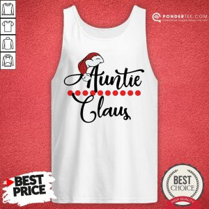 Happy Auntie Claus Christmas 2021 Tank Top - Desisn By Pondertee.com