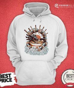 Happy Big Dragon Ramen Hoodie - Desisn By Pondertee.com