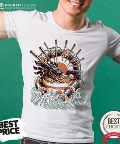 Happy Big Dragon Ramen Shirt - Desisn By Pondertee.com