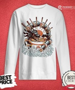 Happy Big Dragon Ramen Sweatshirt - Desisn By Pondertee.com