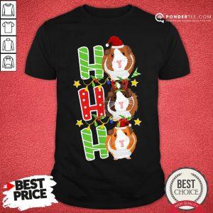 Happy Ho Ho Ho Christmas Xmas Guinea Pig Shirt - Desisn By Pondertee.com