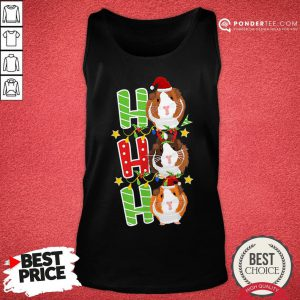 Happy Ho Ho Ho Christmas Xmas Guinea Pig Tank Top - Desisn By Pondertee.com