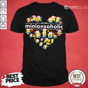 Happy I'm An Minions Aholic Santa Heart Shirt - Desisn By Pondertee.com