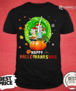 Happy Rick And Morty Happy Hallothanksmas Shirt - Desisn By Pondertee.com