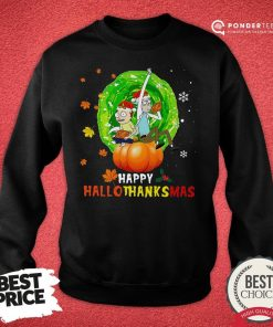 Happy Rick And Morty Happy Hallothanksmas Sweatshirt - Desisn By Pondertee.com