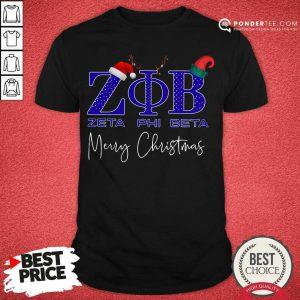 Zeta Phi Beta Merry Christmas Shirt - Desisn By Pondertee.com