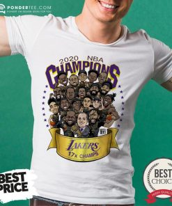Hot 2020 NBA Champions Los Angeles Lakers 17 Champs Cartoon Shirt - Desisn By Pondertee.com