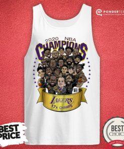 Hot 2020 NBA Champions Los Angeles Lakers 17 Champs Cartoon Tank Top - Desisn By Pondertee.com