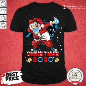 Hot Carolina Panthers Funny Santa Claus Dabbing Christmas 2020 Shirt - Desisn By Pondertee.com