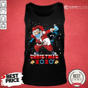 Hot Carolina Panthers Funny Santa Claus Dabbing Christmas 2020 Tank Top - Desisn By Pondertee.com