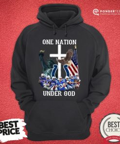 Hot Indianapolis Colts One Nation Under God American Flag V-neck - Desisn By Pondertee.com
