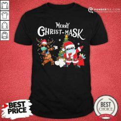 Merry Christmask Santa Clause Reindeer Wear Mask Toilet Paper Shirt - Desisn By Pondertee.com