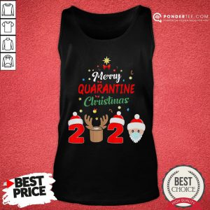 Hot Merry Quarantine Christmas 2020 Xmas Pajamas Holidays Gift Tank Top - Desisn By Pondertee.com