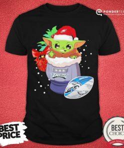 Hot Philadelphia Eagles Christmas Baby Yoda Star Wars Funny Happy NFL Shirt - Desisn By Pondertee.com