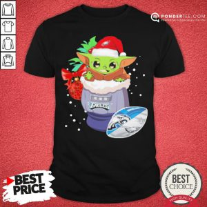Hot Philadelphia Eagles Christmas Baby Yoda Star Wars Funny Happy NFL Shirt - Desisn By Pondertee.com