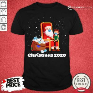 Santa With Face Mask And Toilet Paper Christmas 2020 Shirt - Desisn By Pondertee.com