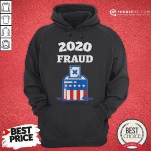 Nice 2020 Fraud American Flag Election Hoodie - Desisn By Pondertee.com