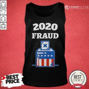 Nice 2020 Fraud American Flag Election Tank Top - Desisn By Pondertee.com