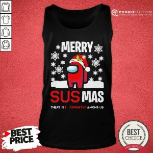 Among Us Merry Sus-Ma Christmas Tank Top - Desisn By Pondertee.com