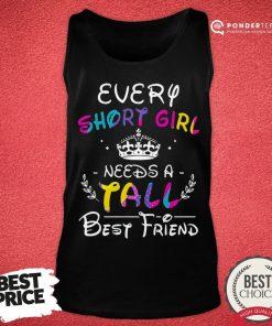 Nice Every Short Girl Needs A Fall Best Friend Tank Top - Desisn By Pondertee.com