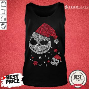 Nice Jack Skellington Santa Face Christmas Tank Top - Desisn By Pondertee.com