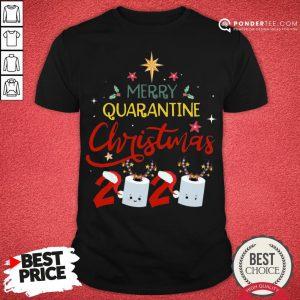 Nice Merry Quarantine Christmas 2020 Toilet Paper Shirt - Desisn By Pondertee.com