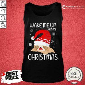 Wake Me Up When It's Christmas Tank Top - Desisn By Pondertee.com