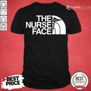 Official The Nurse Face Gift Shirt- Desisn By Pondertee.com