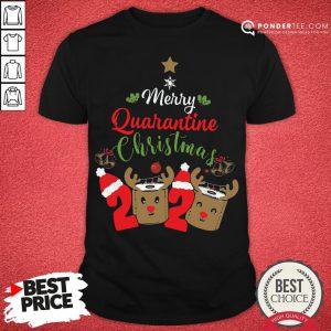 Hot Merry Quarantine Christmas 2020 Toilet Paper Reindeer Shirt- Desisn By Pondertee.com