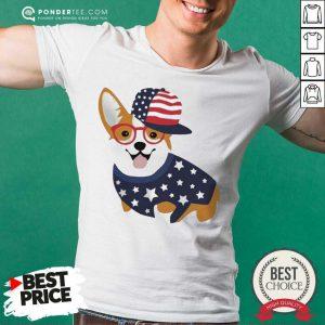 Corgi American Flag Shirt - Desisn By Pondertee.com