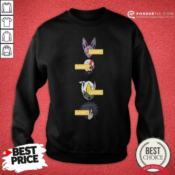 Gawd Gods Among Us Sweatshirt - Desisn By Pondertee.com
