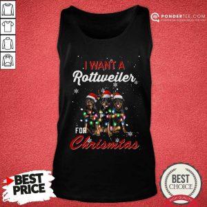 I Want A Rottweiler For Christmas Tank Top - Desisn By Pondertee.com