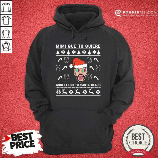 Bad Bunny Aqui Llego Tu Santa Claus Christmas Hoodie - Desisn By Pondertee.com