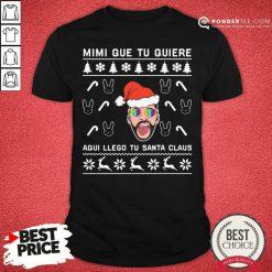 Bad Bunny Aqui Llego Tu Santa Claus Christmas Shirt - Desisn By Pondertee.com