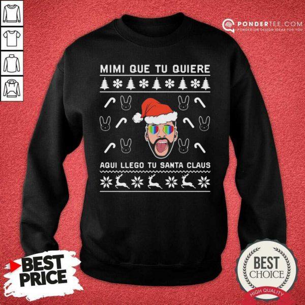 Bad Bunny Aqui Llego Tu Santa Claus Christmas Sweatshirt - Desisn By Pondertee.com