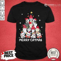Cats Merry Catmas Merry Christmas Tree Shirt - Desisn By Pondertee.com