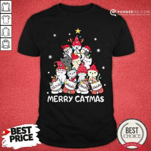 Cats Merry Catmas Merry Christmas Tree Shirt - Desisn By Pondertee.com