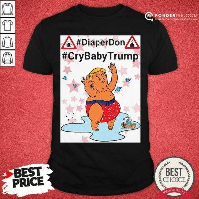 Diaper Don Crybaby Trump Ugly Christmas Shirt - Desisn By Pondertee.com