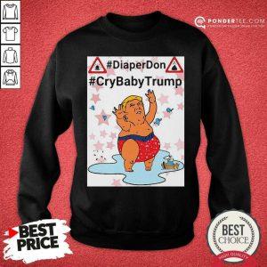 Diaper Don Crybaby Trump Ugly Christmas Sweatshirt - Desisn By Pondertee.com