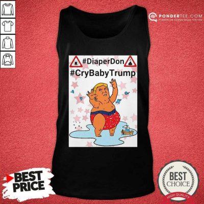 Diaper Don Crybaby Trump Ugly Christmas Tank Top - Desisn By Pondertee.com